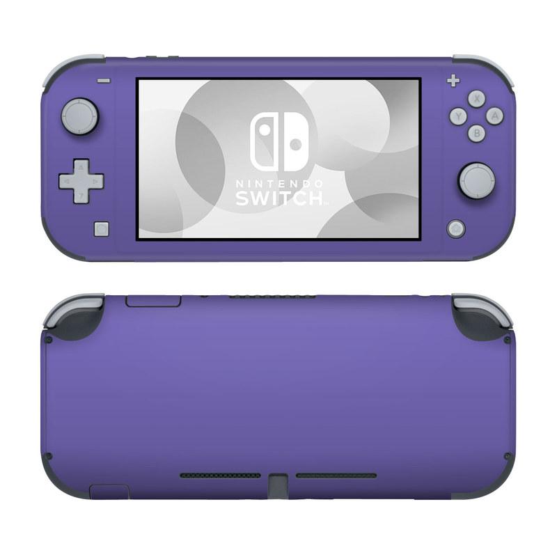 Nintendo Switch Lite Skin design of Blue, Violet, Sky, Purple, Daytime, Black, Lilac, Cobalt blue, Pink, Azure with purple colors