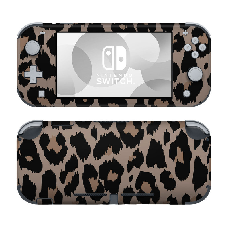 Nintendo Switch Lite Skin design of Pattern, Brown, Fur, Design, Textile, Monochrome, Fawn with black, gray, red, green colors