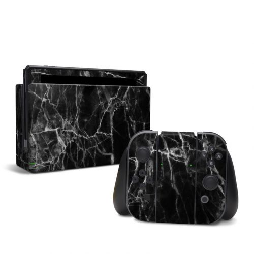 Black Marble Nintendo Switch Skin