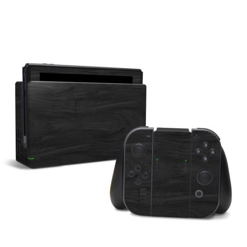 Black Woodgrain Nintendo Switch Skin