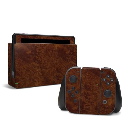 Dark Burlwood Nintendo Switch Skin