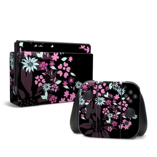 Dark Flowers Nintendo Switch Skin