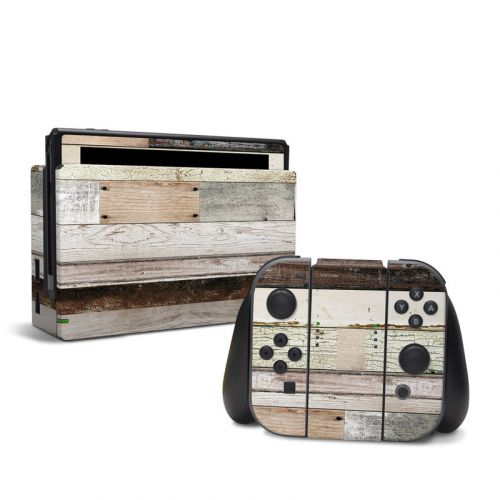 Eclectic Wood Nintendo Switch Skin