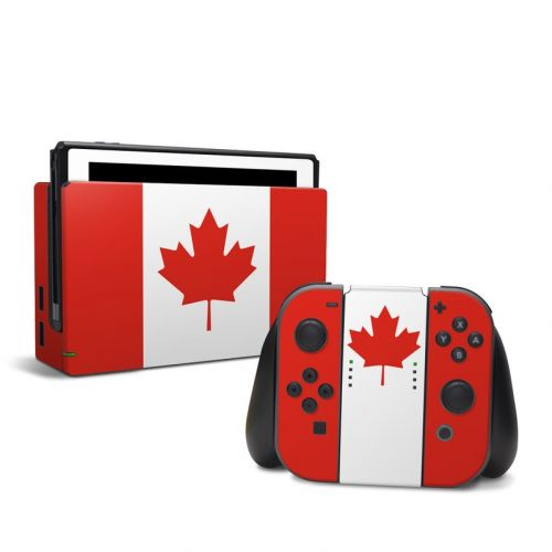 Canadian Flag Nintendo Switch Skin