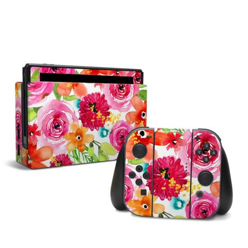 Floral Pop Nintendo Switch Skin