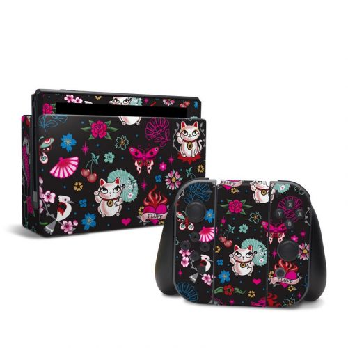 Geisha Kitty Nintendo Switch Skin