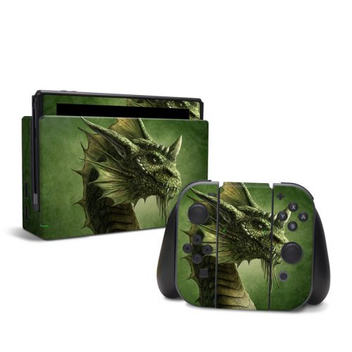 Green Dragon Nintendo Switch Skin