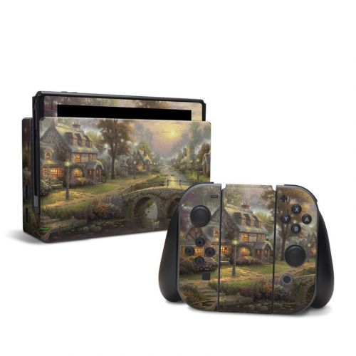 Sunset On Lamplight Lane Nintendo Switch Skin