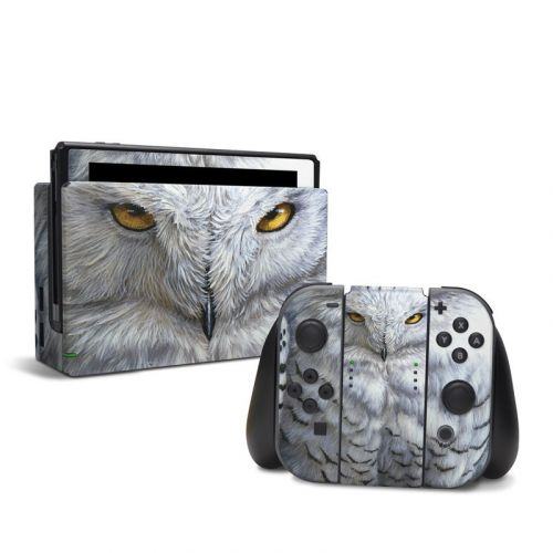 Snowy Owl Nintendo Switch Skin