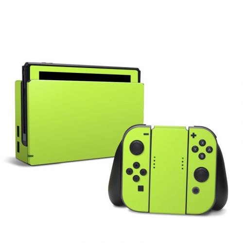 Solid State Lime Nintendo Switch Skin