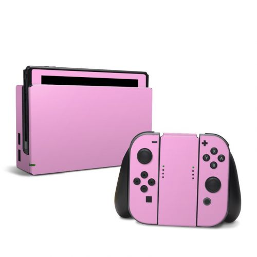 Solid State Pink Nintendo Switch Skin