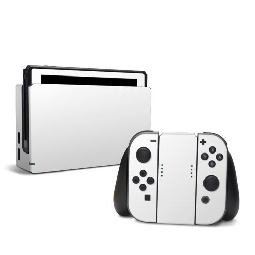 Solid State White Nintendo Switch Skin