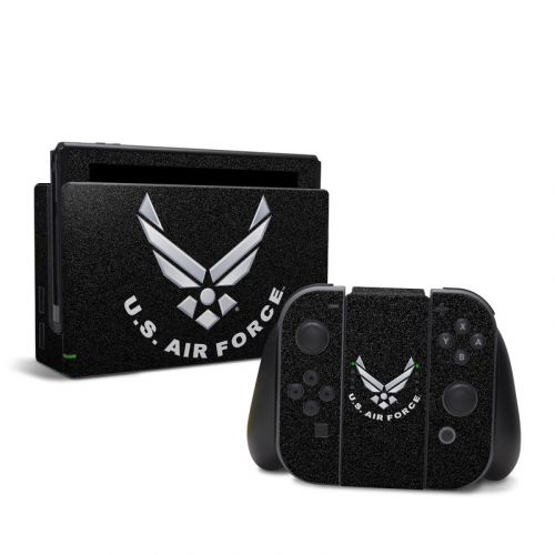 USAF Black Nintendo Switch Skin