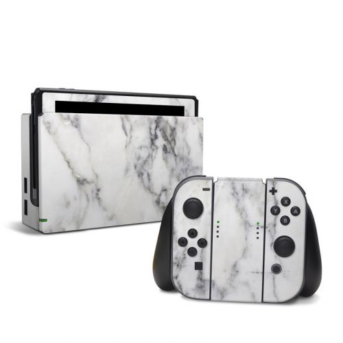 White Marble Nintendo Switch Skin