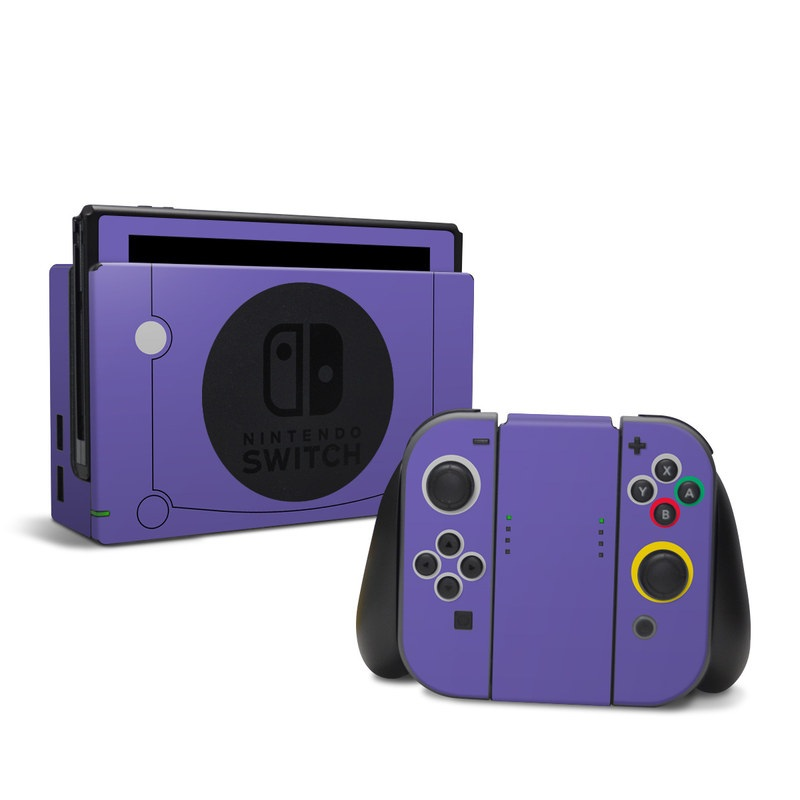 Nintendo Switch Skin design with purple colors