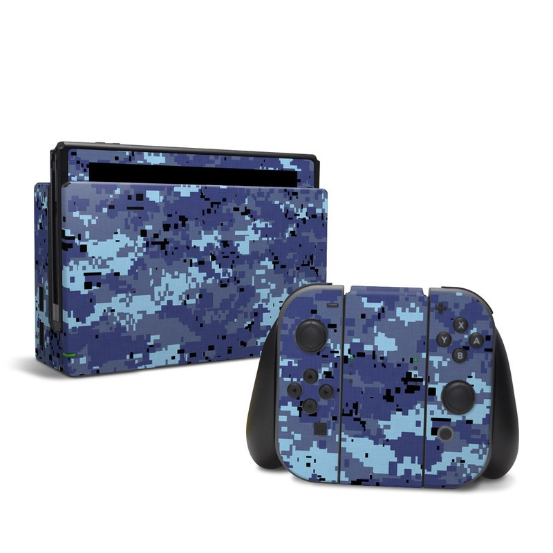 Digital Sky Camo Nintendo Switch Skin