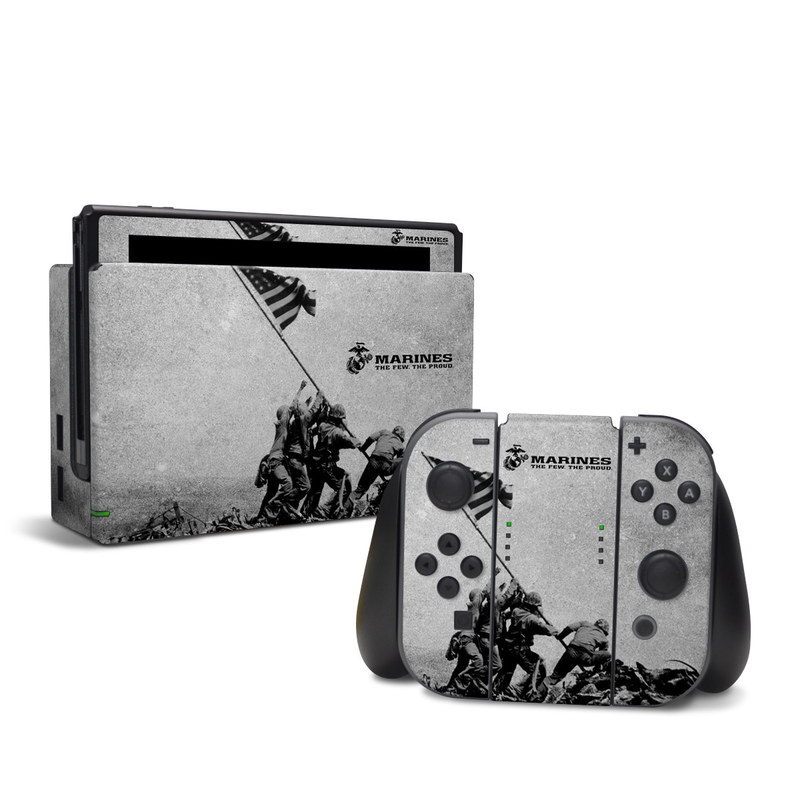 Nintendo Switch Skin design of Flag, Illustration, Stock photography, Pole with gray, black colors