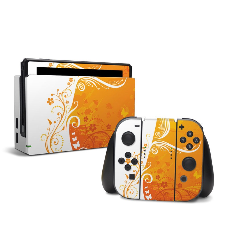 Orange Crush Nintendo Switch Skin