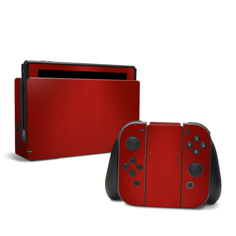Red Burst Nintendo Switch Skin