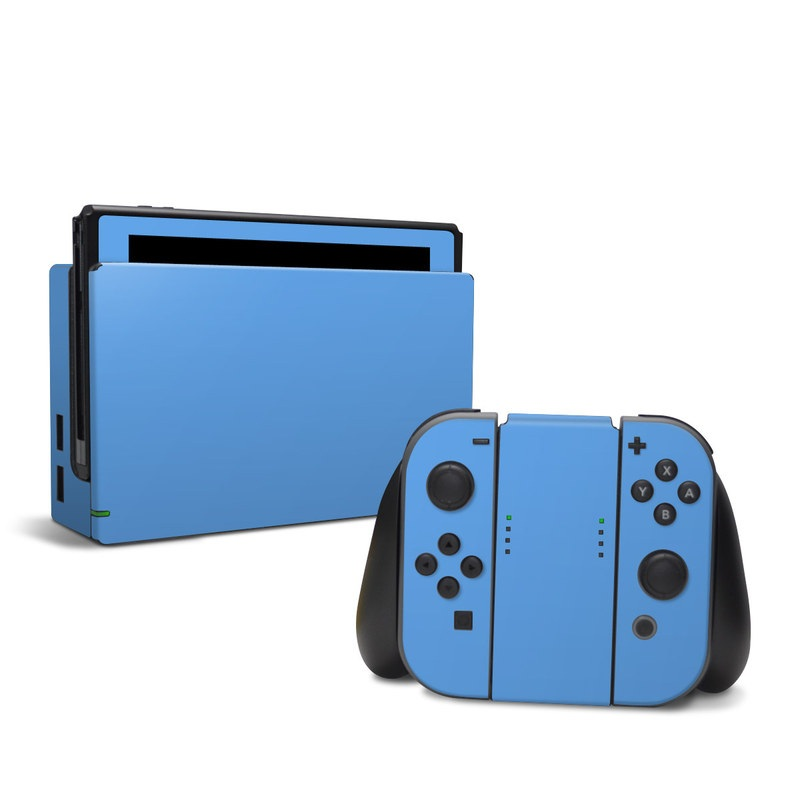 Solid State Blue Nintendo Switch Skin