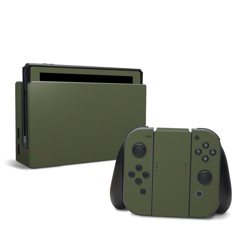 Nintendo Switch Skin design of Green, Brown, Text, Yellow, Grass, Font, Pattern, Beige with green colors