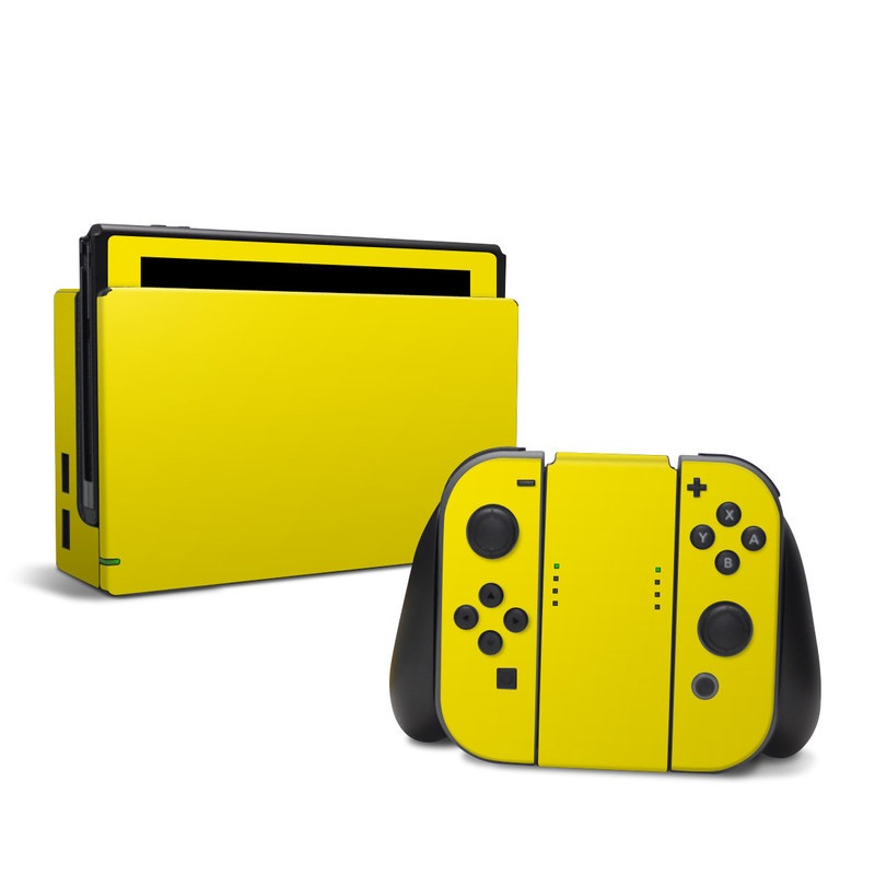 Solid State Yellow Nintendo Switch Skin