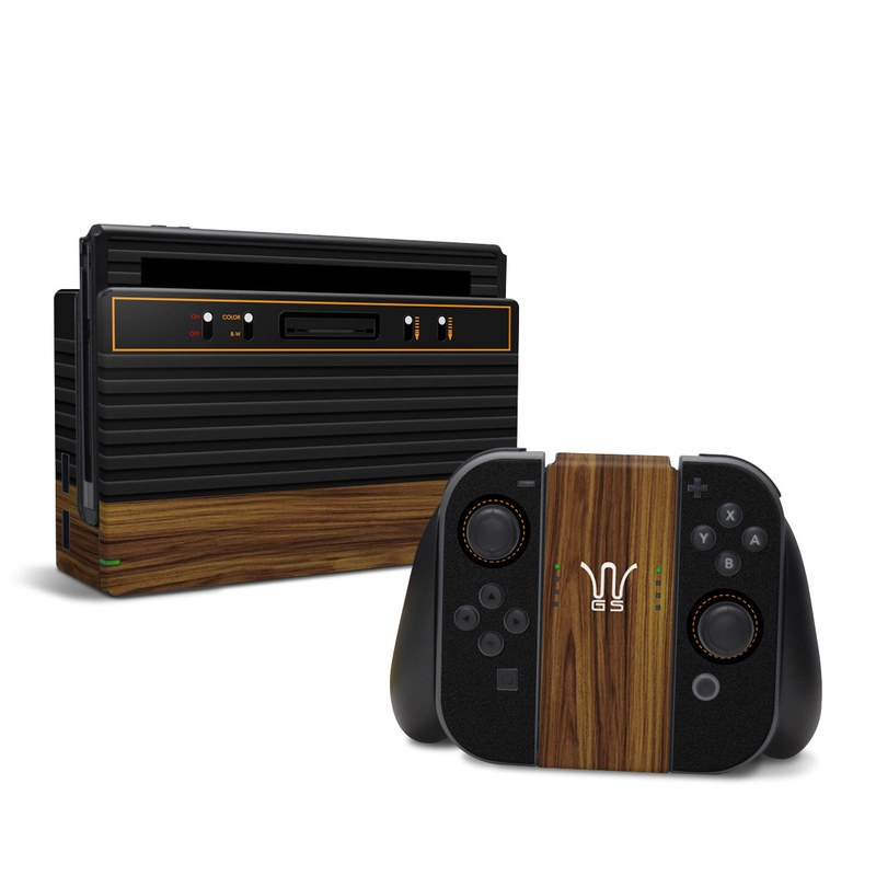 Wooden Gaming System Nintendo Switch Skin