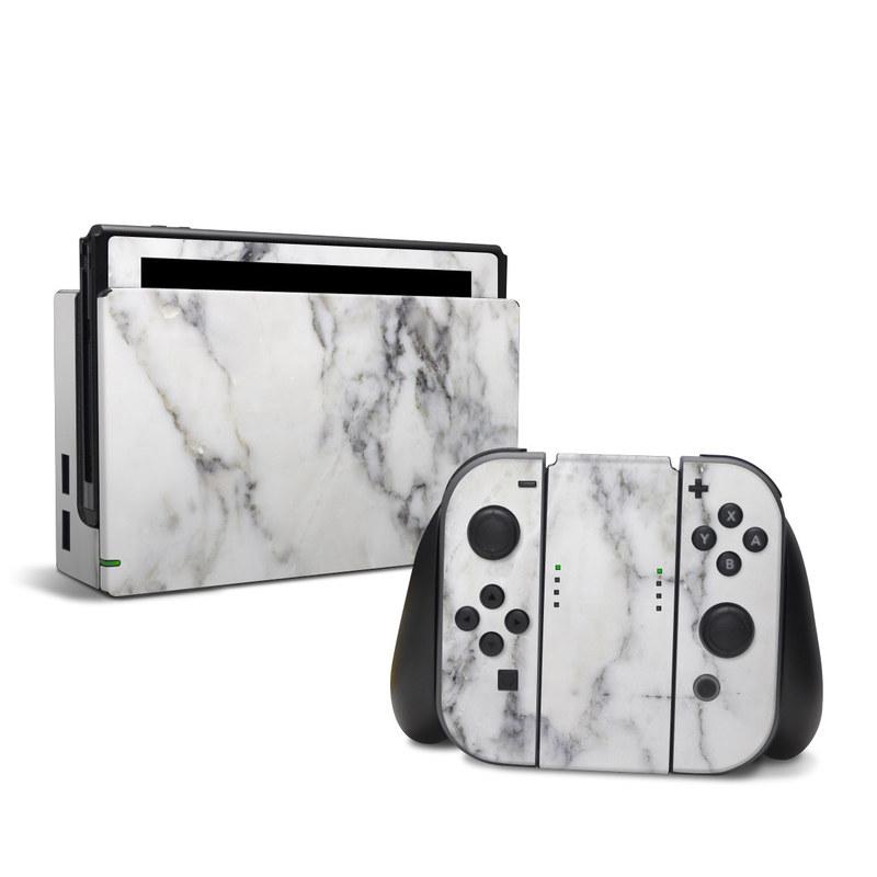 White Marble Nintendo Switch Skin