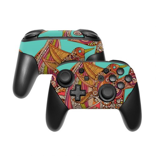Bird In Paradise Nintendo Switch Pro Controller Skin
