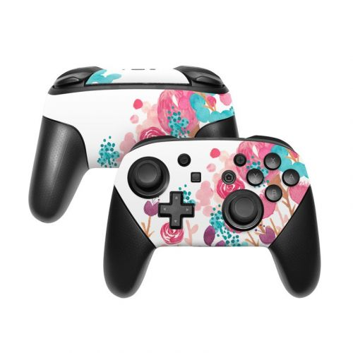 Blush Blossoms Nintendo Switch Pro Controller Skin
