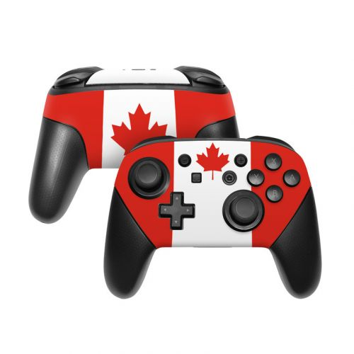 Canadian Flag Nintendo Switch Pro Controller Skin