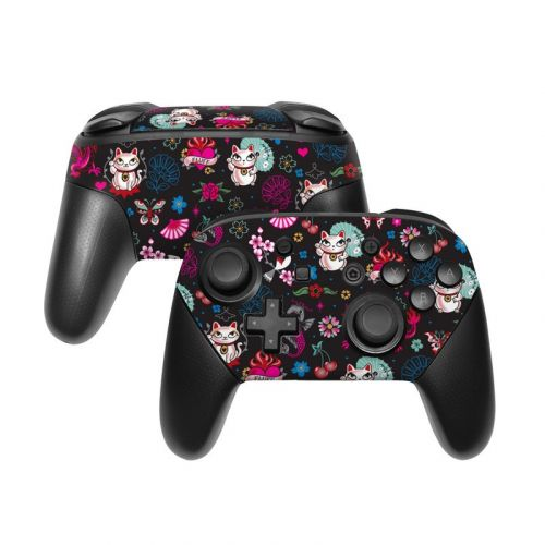 Geisha Kitty Nintendo Switch Pro Controller Skin
