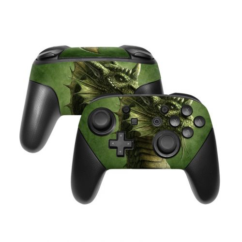 Green Dragon Nintendo Switch Pro Controller Skin