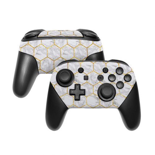 Honey Marble Nintendo Switch Pro Controller Skin