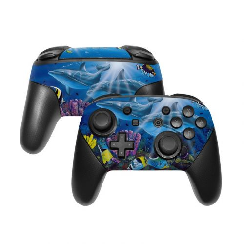Ocean Friends Nintendo Switch Pro Controller Skin