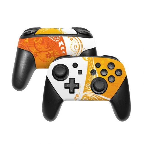Orange Crush Nintendo Switch Pro Controller Skin