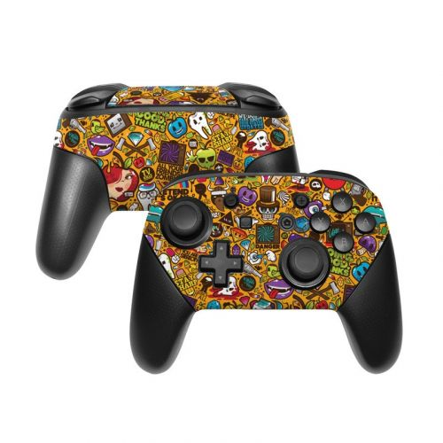 Psychedelic Nintendo Switch Pro Controller Skin