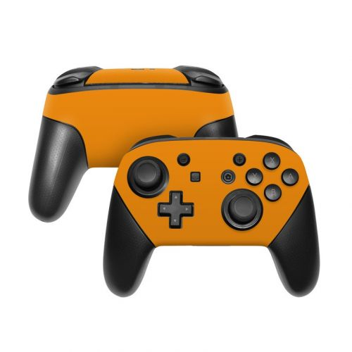 Solid State Orange Nintendo Switch Pro Controller Skin