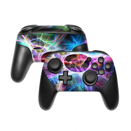 Static Discharge Nintendo Switch Pro Controller Skin