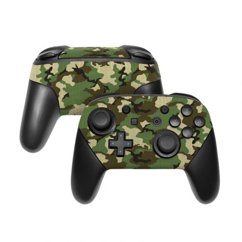 Woodland Camo Nintendo Switch Pro Controller Skin