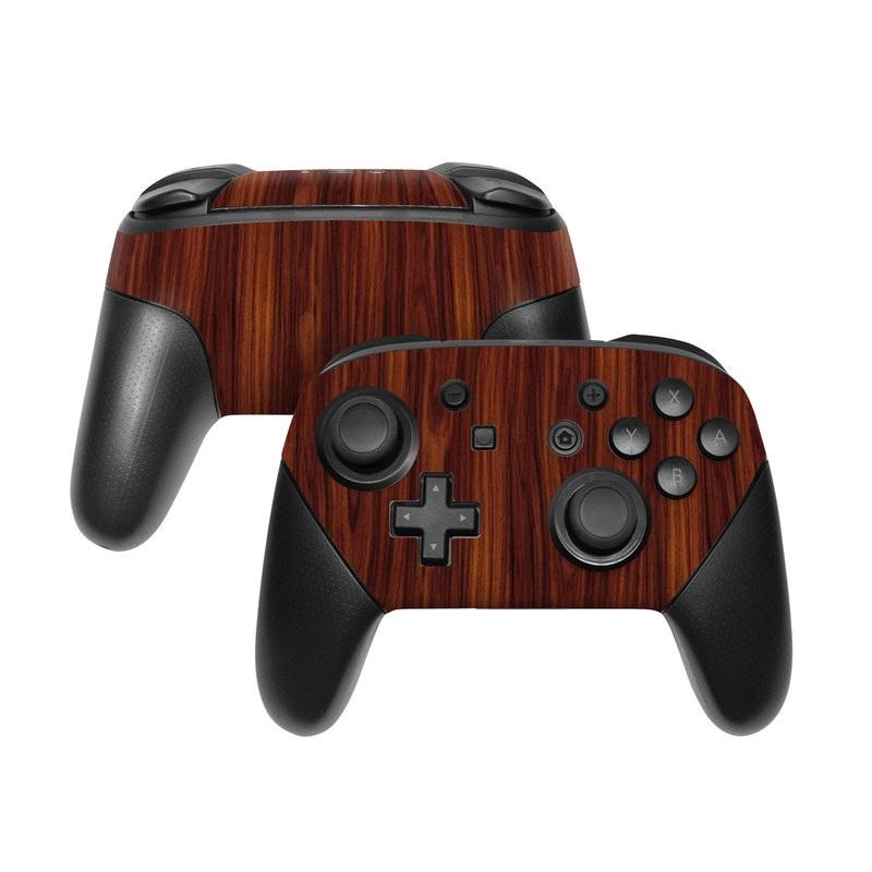 Dark Rosewood Nintendo Switch Pro Controller Skin