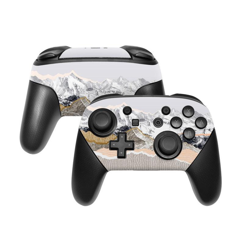 Pastel Mountains Nintendo Switch Pro Controller Skin