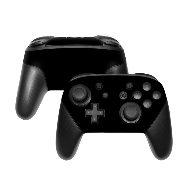 Solid State Black Nintendo Switch Pro Controller Skin
