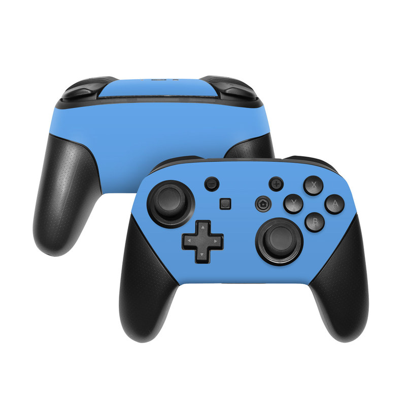 Solid State Blue Nintendo Switch Pro Controller Skin