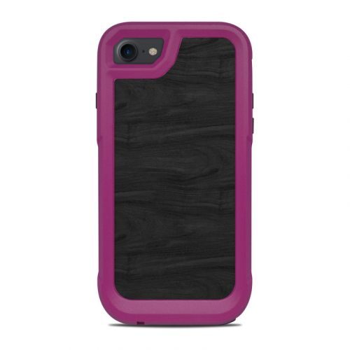 Black Woodgrain OtterBox Pursuit iPhone 8 Case Skin