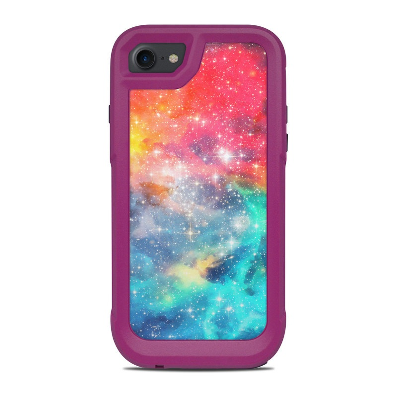 OtterBox Pursuit iPhone 8 Case Skin design of Nebula, Sky, Astronomical object, Outer space, Atmosphere, Universe, Space, Galaxy, Celestial event, Star with white, black, red, orange, yellow, blue colors