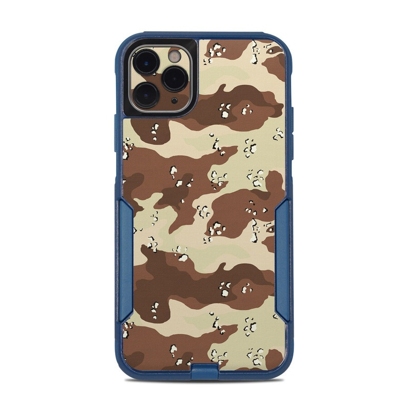 OtterBox Commuter iPhone 11 Pro Max Case Skin design of Military camouflage, Brown, Pattern, Design, Camouflage, Textile, Beige, Illustration, Uniform, Metal with gray, red, black, green colors