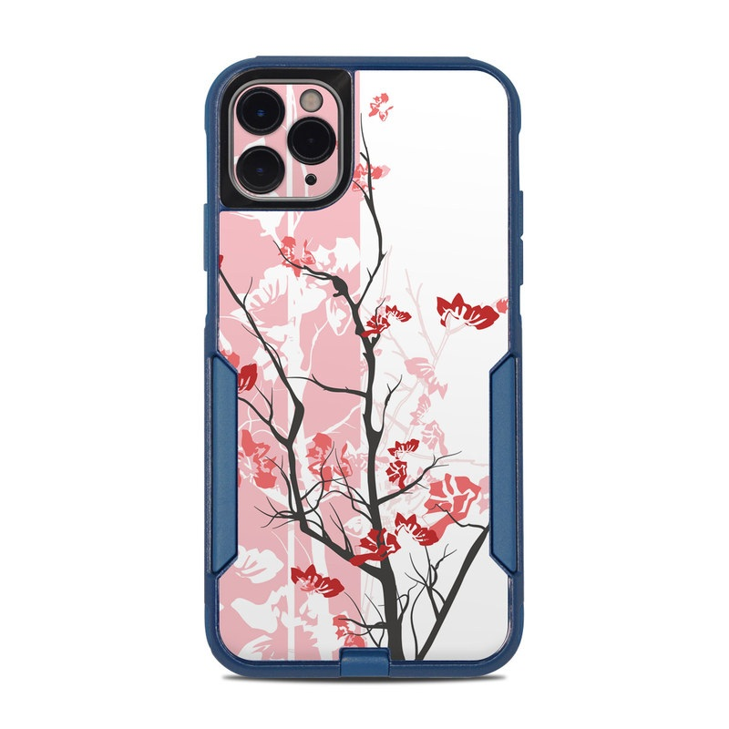 OtterBox Commuter iPhone 11 Pro Max Case Skin design of Branch, Red, Flower, Plant, Tree, Twig, Blossom, Botany, Pink, Spring with white, pink, gray, red, black colors