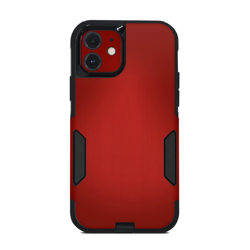 OtterBox Commuter iPhone 12 Case Skin design of Red, Maroon, Orange, Brown, Peach, Pattern, Magenta with red colors
