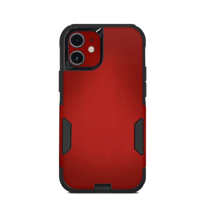 OtterBox Commuter iPhone 12 mini Case Skin design of Red, Maroon, Orange, Brown, Peach, Pattern, Magenta with red colors